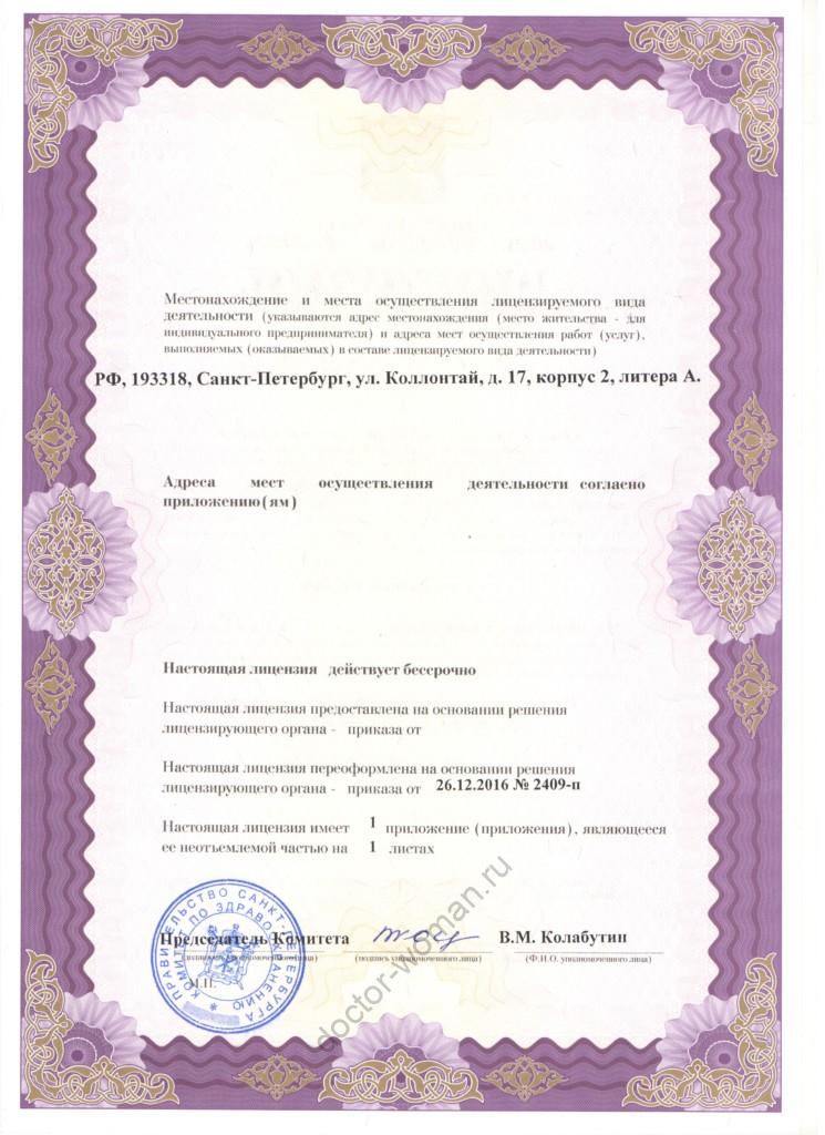 Лицензия клиники 2