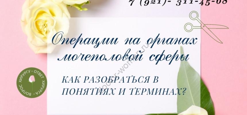 Операции на мочеполовых органах. фото А. Герасимовой